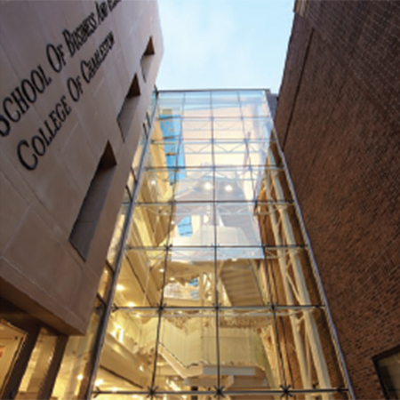 Glass facade for College of Charleston