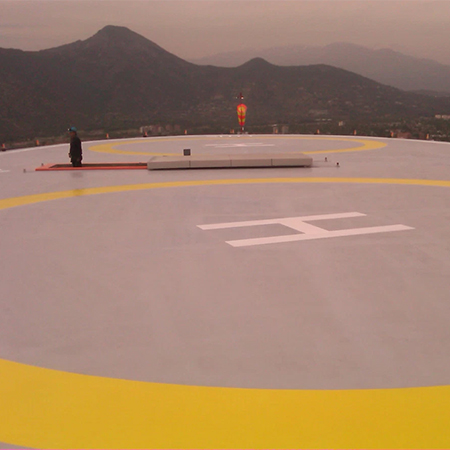 HYPERDESMO waterproofing for tower helipad