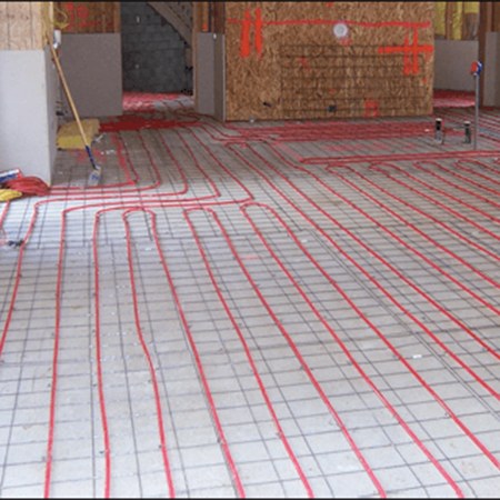 ThermaSkirt-e is much easier to install than the complex UFH
