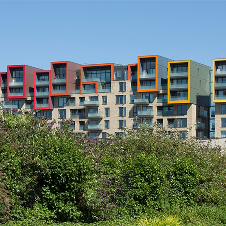 Glass balustrades for Greenwich Millennium Village