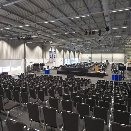 Long life LED lights for conference centre