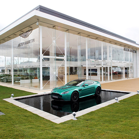 Mapei products specified for Aston Martin showroom