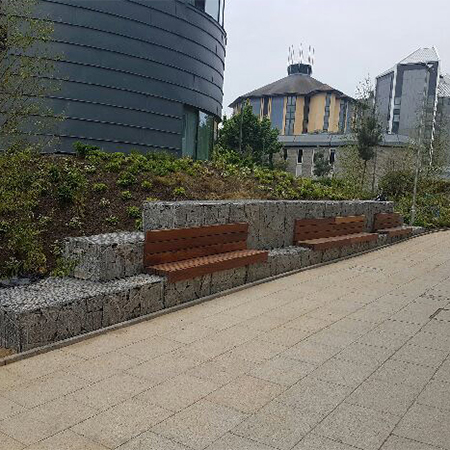 Outdoor seating for Bournemouth University