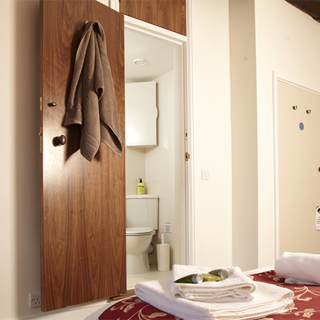 En suite pod for luxurious student accommodation