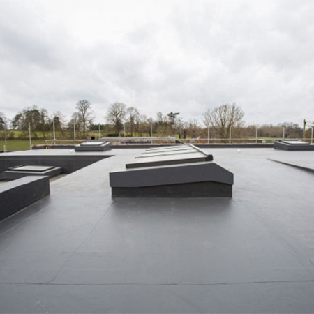 Warm roof system for Yehudi Menuhin School