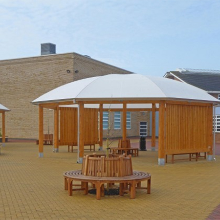 Structural timber canopies for 'outstanding' school