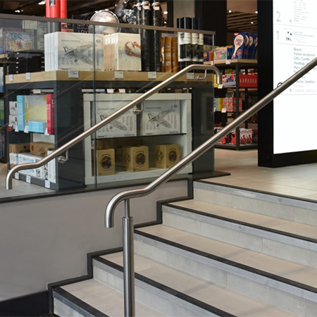 Glass balustrade system for John Lewis store