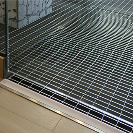 Stainless steel grating for flagship Primark store