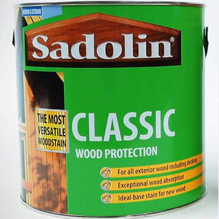 Sadolin Classic is a highly versatile woodstain which can be used on all external wood including decking