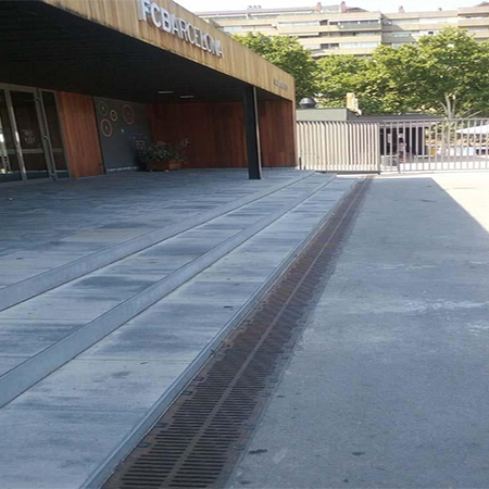 Drainage channels for new entrance at Camp Nou