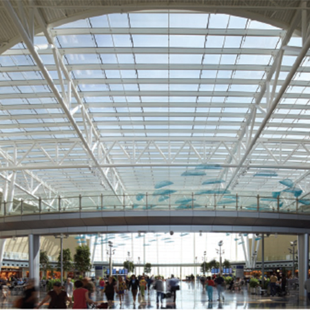 Curved Skylight For Indianapolis Airport