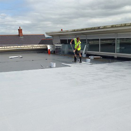 Roof waterproofing system for supermarket