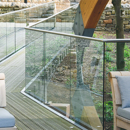 Glass balustrades for multi-award winning venue