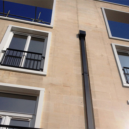 Downpipes & Hoppers for Bath riverside development