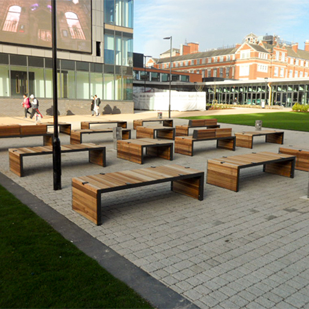 Social seating for De Montfort University