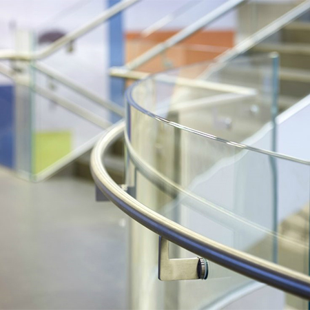 Glass balustrade for National Army Museum
