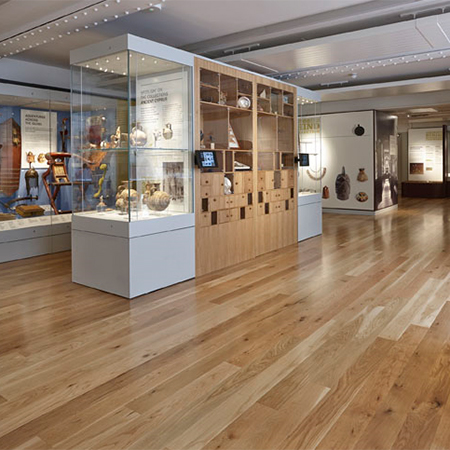Solid Oak floors unify museum space