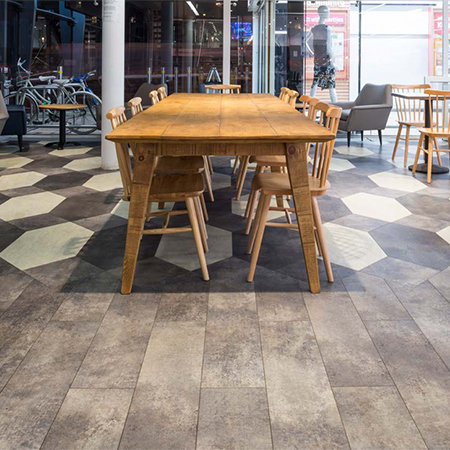 Amtico Signature tiles for Harris + Hoole coffee shop