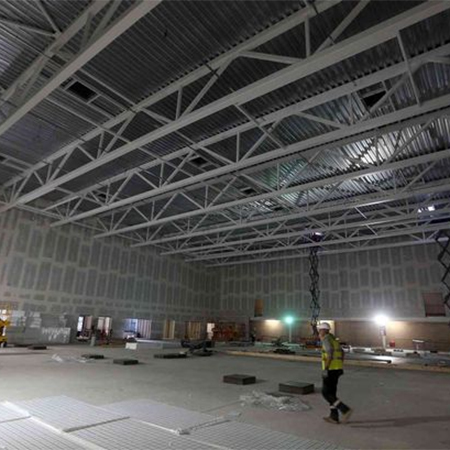 Westok steel for university leisure centre