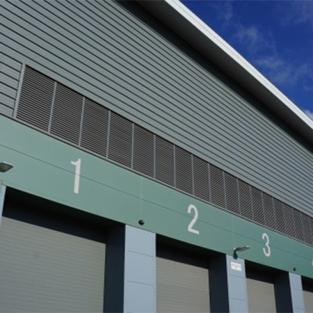 Triple bank louvres for Energy Recovery Facility