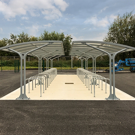 Cycle shelters & furniture for school & leisure complex