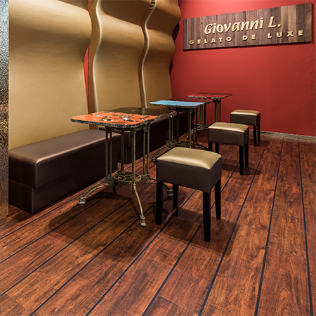 Oak floor tiles a sweet addition for ice cream parlour