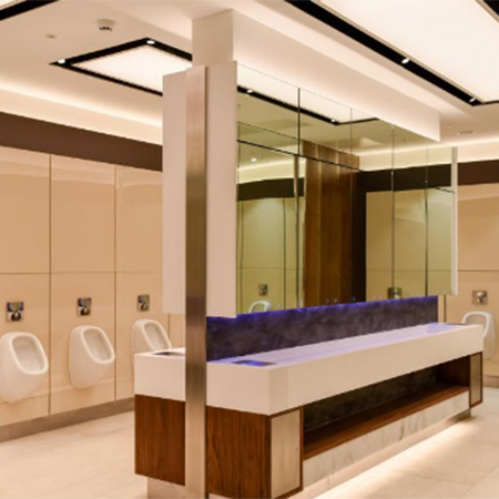Luxury washroom for shopping centre