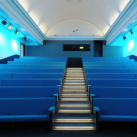 Bench seating system for London Science Museum