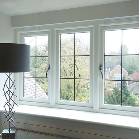 Oak casement windows for new residence