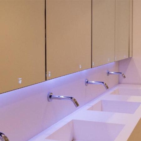 Stylish washroom systems for Design Museum