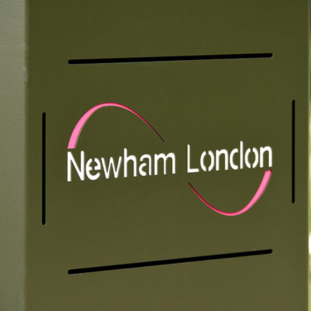 Broxap litter bins for London Borough of Newham