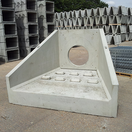 Althon Supply Angled Headwalls With Dissipation Blocks