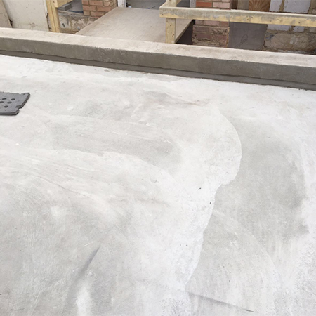 Waterproofing slurry for basement extension