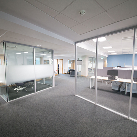 Lusso Glazed Screens for Bristol Business School