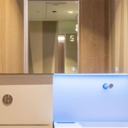 Stylish washroom design for Soho office