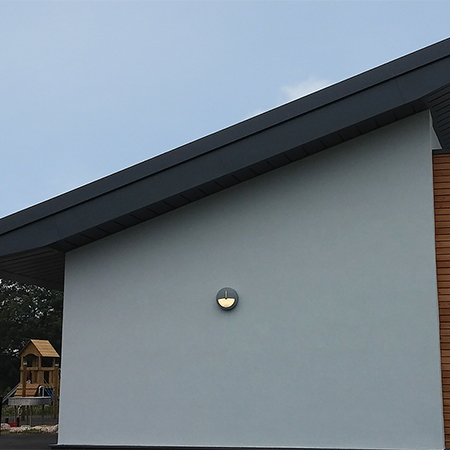 Bespoke aluminium rainwater solution for school