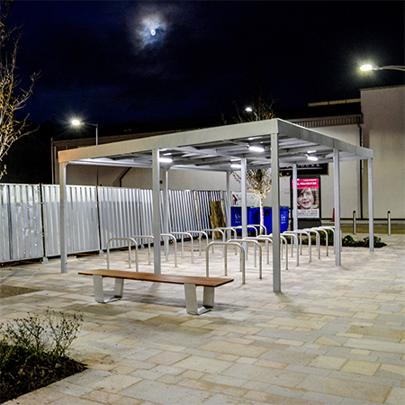 LED benches help light up leisure scheme