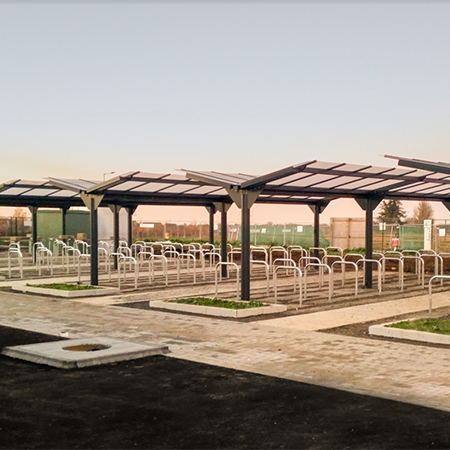 Cycle shelters for Sybil Andrews Academy