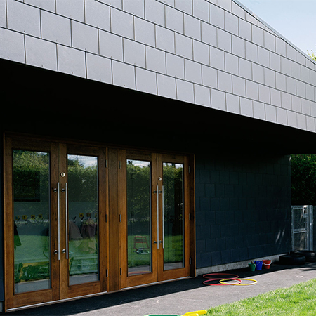 Fibre cement slate for Canon Popham Primary