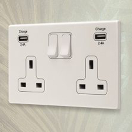 Ultra dual 2.4A USB switched sockets