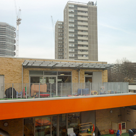 Bespoke canopy system for Moreland Primary School