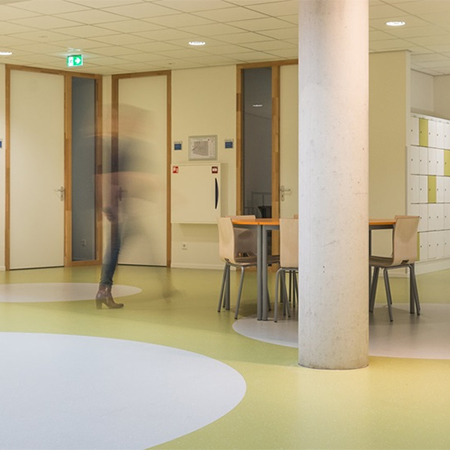 Sustainable flooring for secondary school