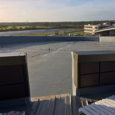 PVC roofing membrane at York University
