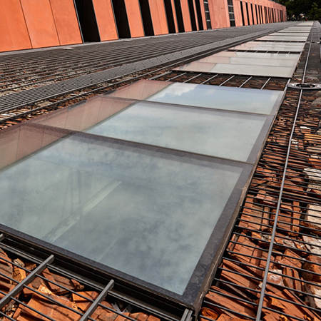 Glass ceiling for Museum of the Second World War