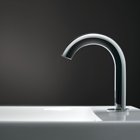 Geberit Piave deck-mounted washbasin infra-red tap system