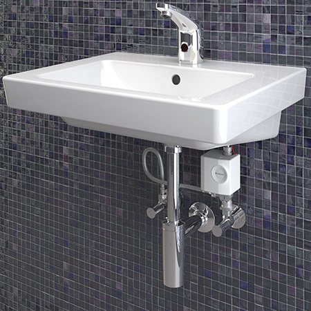 Geberit type 185 deck-mounted washbasin infra-red tap system