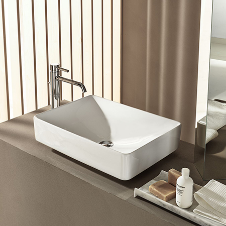 Geberit lay-on washbasin VariForm, rectangular