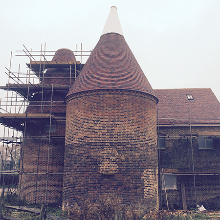 Tudor tiles helps in the restoration of the Oast House