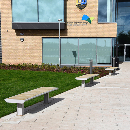 Wide range of Broxap products for new Cardiff school
