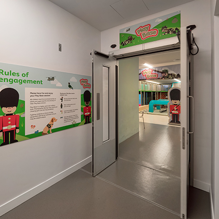 GEZE automatic swing doors for National Army Museum